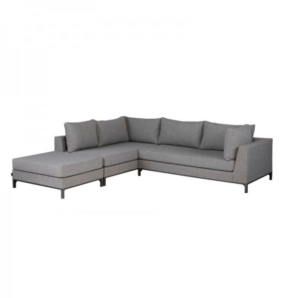 Sicilie Outdoor-Gartenlounge Set Grau - links